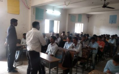 One day Interaction program with 12th Standard students in Tiwasa region