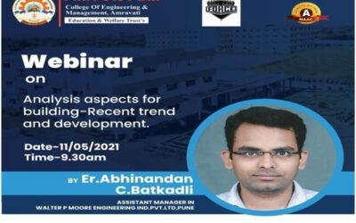 """Expert Lecture on """"Analysis Aspects for Building-Recent Trends and Development"""""""