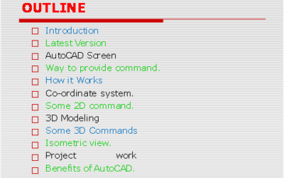 Auto CAD Training and Competitive Exam Guidance