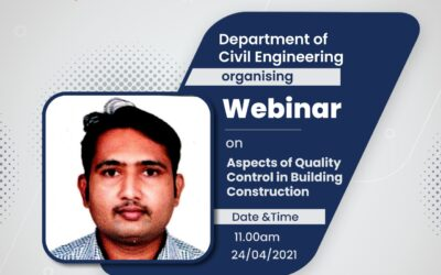 """Expert Lecture on """"Importance of Quality Control in Civil Engineering"""""""