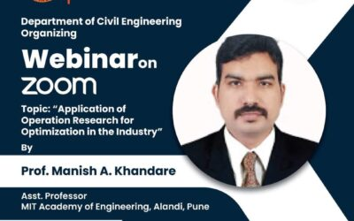 """Guest Lecture on """"Application of operation research for optimization in Industry"""""""