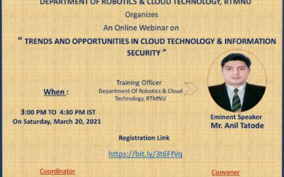 """Webinar on """"Trends and Opportunities in Cloud Technology and Information Security"""""""