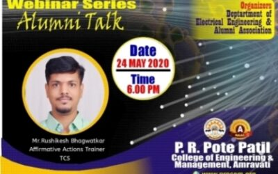 """Webinar on """"How to Prepare for Interview and How to be Corporate Ready"""" by Alumni Mr Rushikesh Bhagwatkar"""