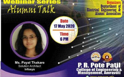 """Webinar on """"Importance of Grooming in Corporate and How to Prepare Resume"""" by Alumni Ms. Payal Thakare"""