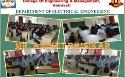 """Guest Lecture on """"Goal Setting"""" by Mr. A. P. Bhisikar, (M.B.A,B.E) Manufacturing Excellence Manager, Dinshaw's Dairy Food Product Limited"""