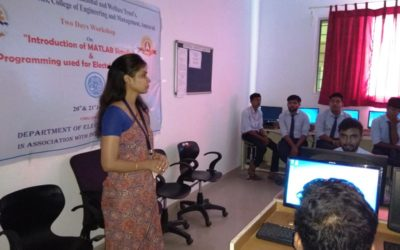 Two Days Workshop on Introduction of MATLAB Simulink and Programming used for Electrical Engineers