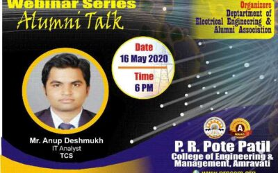 """Webinar on """"Opportunities and How to Prepare for Software Industry"""" Alumni by Mr. Anup Deshmukh"""