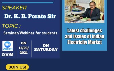 Webinar on Latest Challenges & Issues of Indian Electricity Market