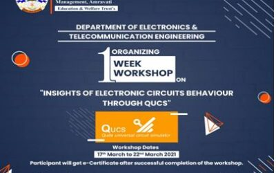 One week Workshop on Insights of Electronic Circuits Behaviour Through QUCS