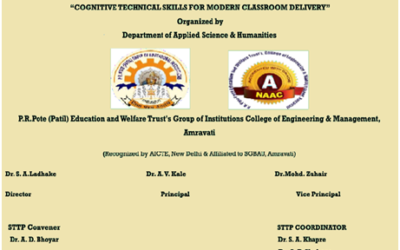 """Short-Term Training Program on """"Cognitive Technical Skills for Modern Classroom Delivery """""""