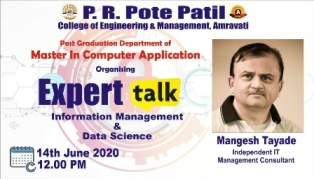 Expert Talk by Mr Mangesh Tayade