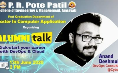 Alumni talk by Anand Deshmukh