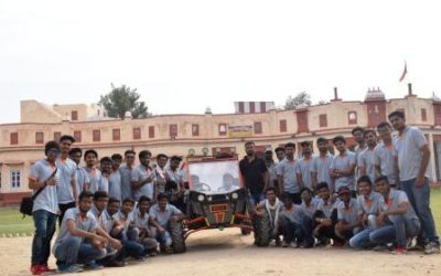 Team of students participated in Rally Car Design Challenge 2018 at Thar Desert Bikaner, Rajasthan.