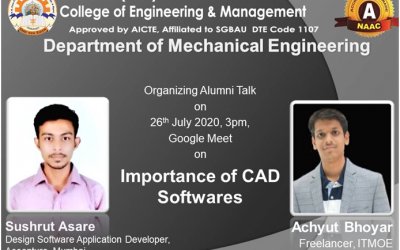 Online Alumni Talk for the students of Mechanical Engineering Department