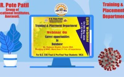 Expert Talk : Career Opportunities in Database by Mr. Nadeem Shaikh for all B.E. Computer Science pre-final year and MCA students.