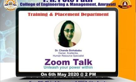 "Expert Talk by Dr. Chanda Sinhababu, Owner, Xcellentia on ""Unleash Your Power Within"" dated 6th May 2020 was organised."