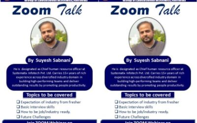 Zoom Talk by Mr. Suyesh Sabnani, HR Head, Systematix on 2nd May 2020 at 2.00 pm