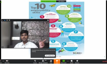 "Webinar on ""Employability skills for 21st century jobs"" by Mr. Swaaruup Gandewar, Founder GTGP was organized for all students of Engineering, MCA and MBA"