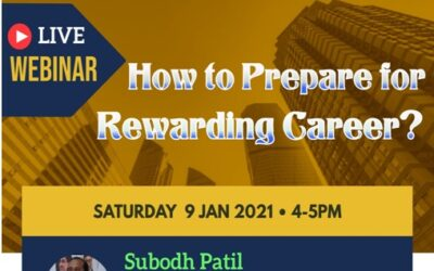 """on """"How to prepare for rewarding Career?""""by Mr.Subodh Patil Sir"""